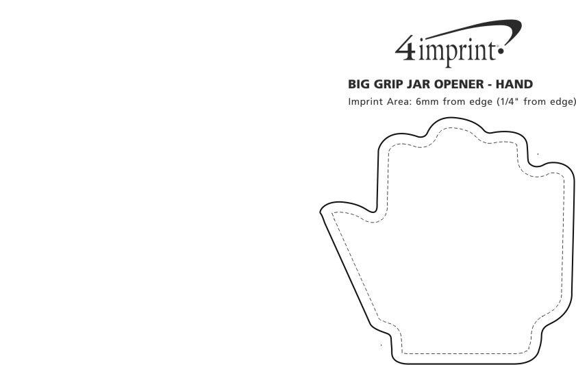 Imprint Area of Big Grip Jar Opener - Hand