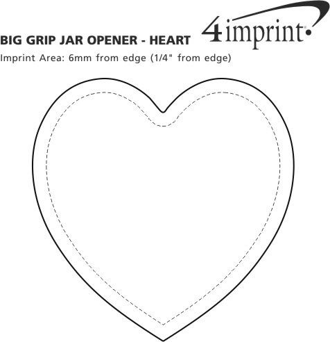 Imprint Area of Big Grip Jar Opener - Heart
