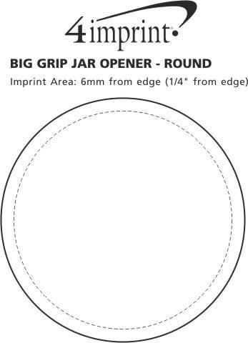 Imprint Area of Big Grip Jar Opener - Round