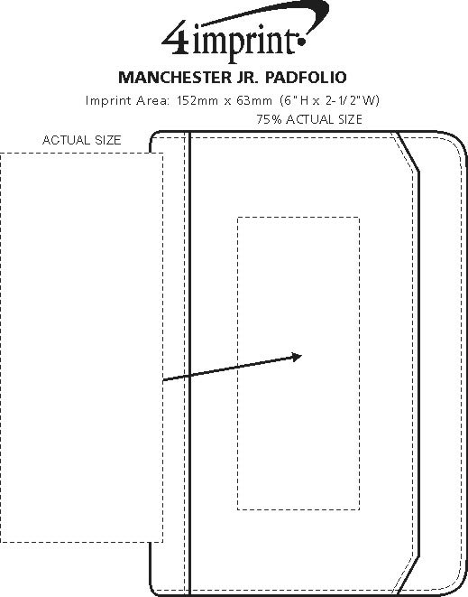 Imprint Area of Manchester Jr. Padfolio