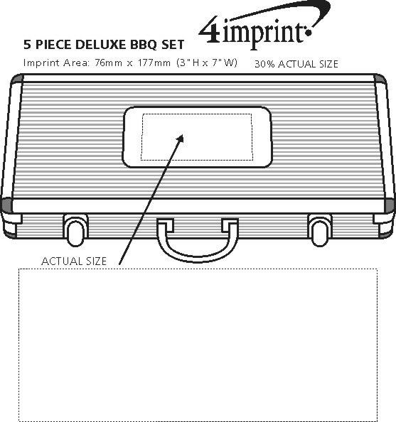 Imprint Area of 5-Piece Deluxe BBQ Set