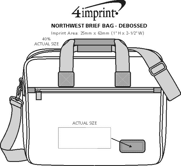 Imprint Area of Northwest Brief Bag - Debossed