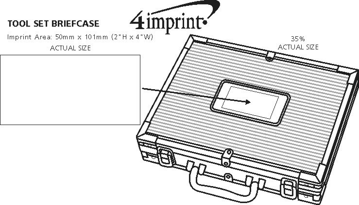 Imprint Area of Briefcase Tool Set