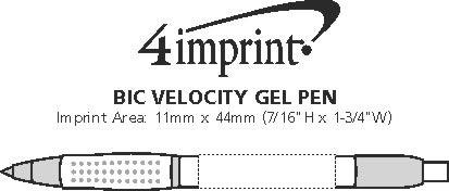 Imprint Area of Bic Velocity Gel Pen