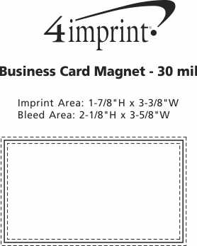 Imprint Area of Full-Colour Business Card Magnet - 30 mil