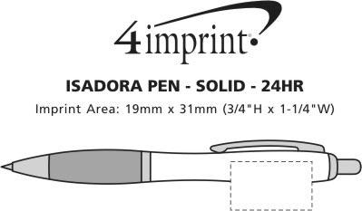 Imprint Area of Isadora Pen - Opaque - 24 hr