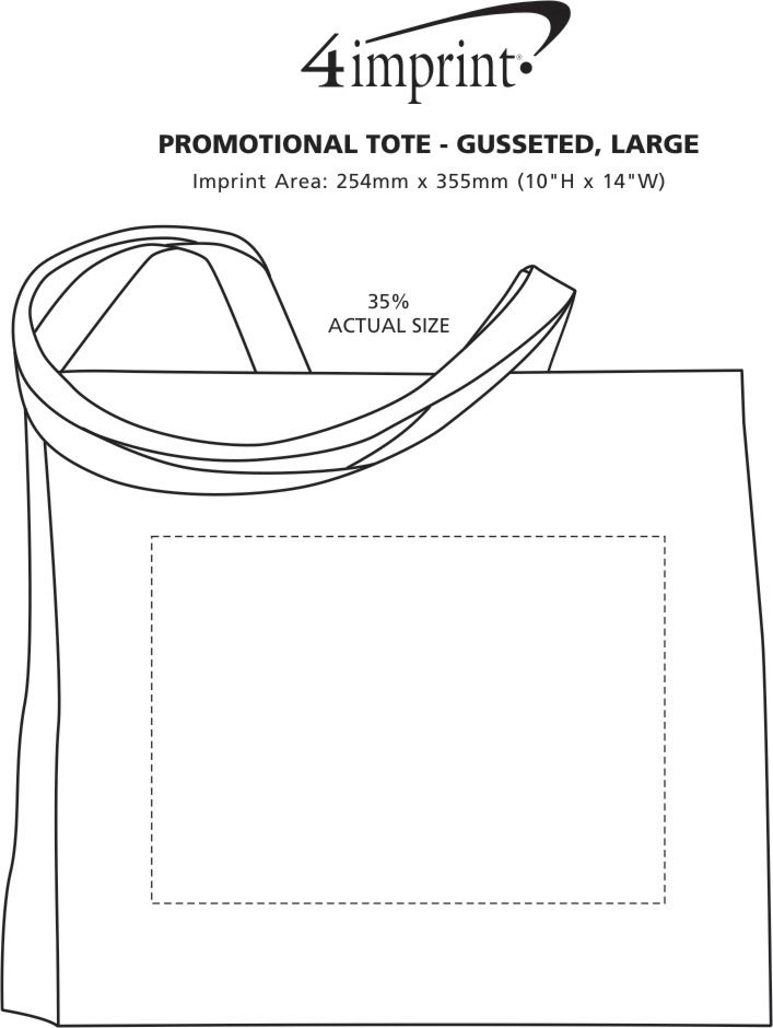 """Imprint Area of Promotional Tote - 16"""" x 20"""""""