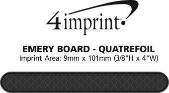 Imprint Area of Emery Board - Quatrefoil