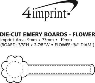 Imprint Area of Die-Cut Emery Board - Flower
