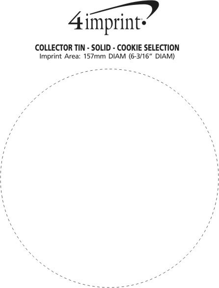 Imprint Area of Collector Tin - Solid - Cookie Selection