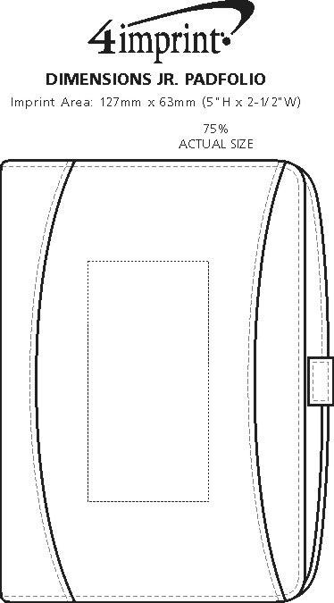 Imprint Area of Dimensions Jr. Padfolio