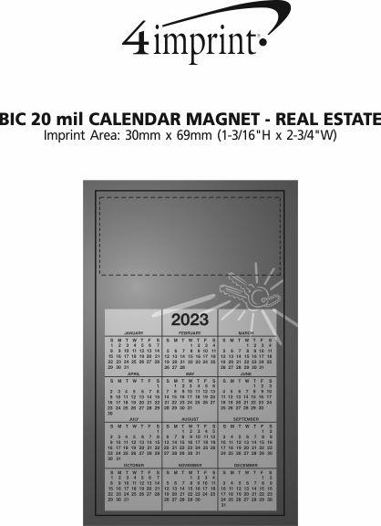 Imprint Area of Bic 20 mil Calendar Magnet - Medium - Real Estate