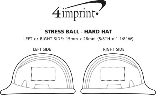 Imprint Area of Stress Reliever - Hard Hat