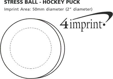 Imprint Area of Stress Reliever - Hockey Puck