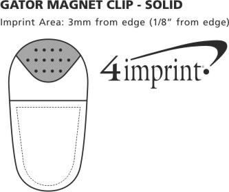 Imprint Area of Gator Clip - Opaque