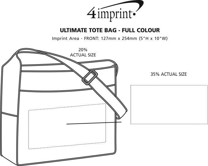 "Imprint Area of Ultimate Tote Bag - 14"" x 16"" - Full Colour"