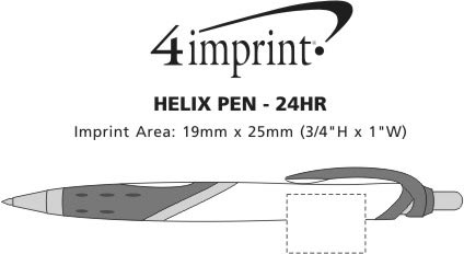 Imprint Area of Helix Pen - 24 hr