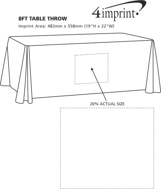 Imprint Area of 8' Table Throw