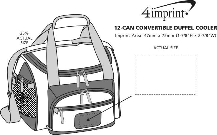 Imprint Area of 12-Can Convertible Duffel Cooler