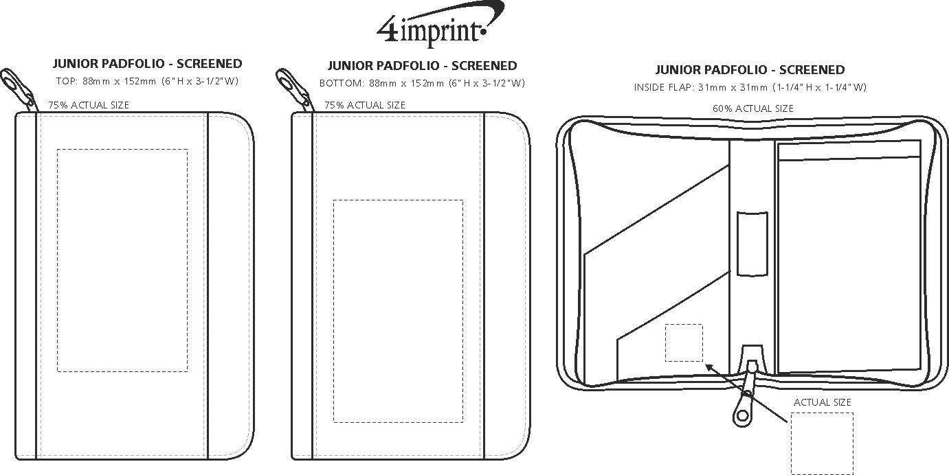 Imprint Area of Junior Portfolio with Notepad - Screen