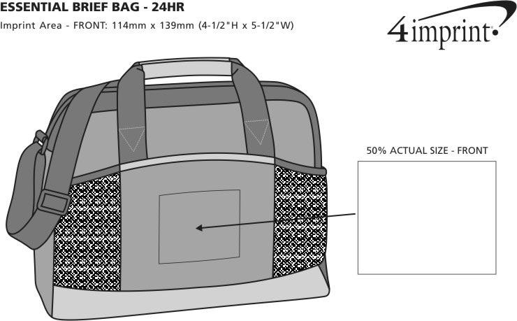 Imprint Area of Essential Brief Bag - 24 hr