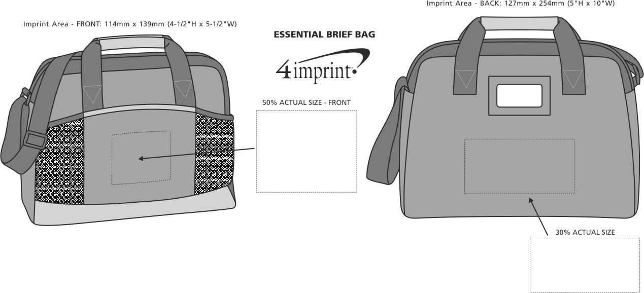 Imprint Area of Essential Brief Bag