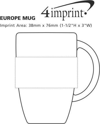 Imprint Area of Europe Mug - 12 oz.