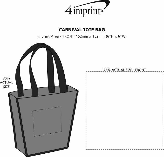 Imprint Area of Carnival Tote Bag