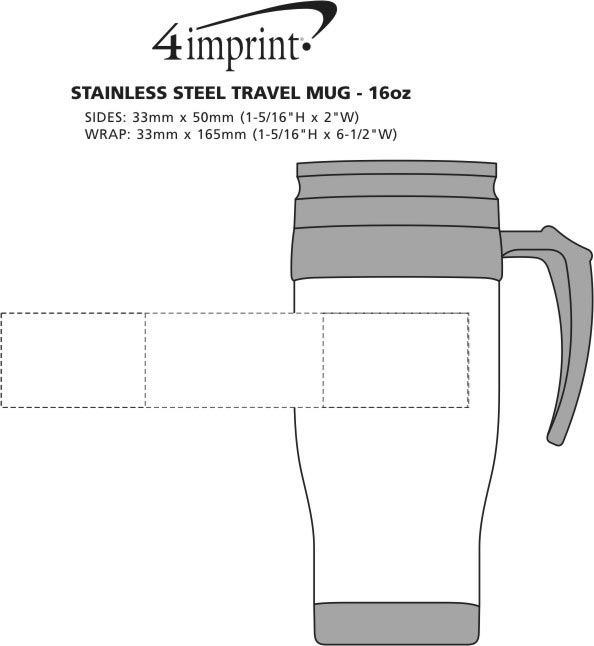 Imprint Area of Stainless Steel Travel Mug - 14 oz.