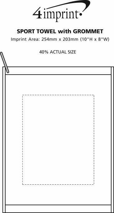 Imprint Area of Sport Towel with Grommet