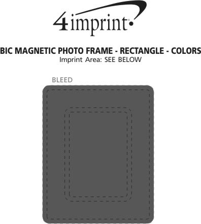 Imprint Area of Bic Magnetic Photo Frame - Rectangle - Colours