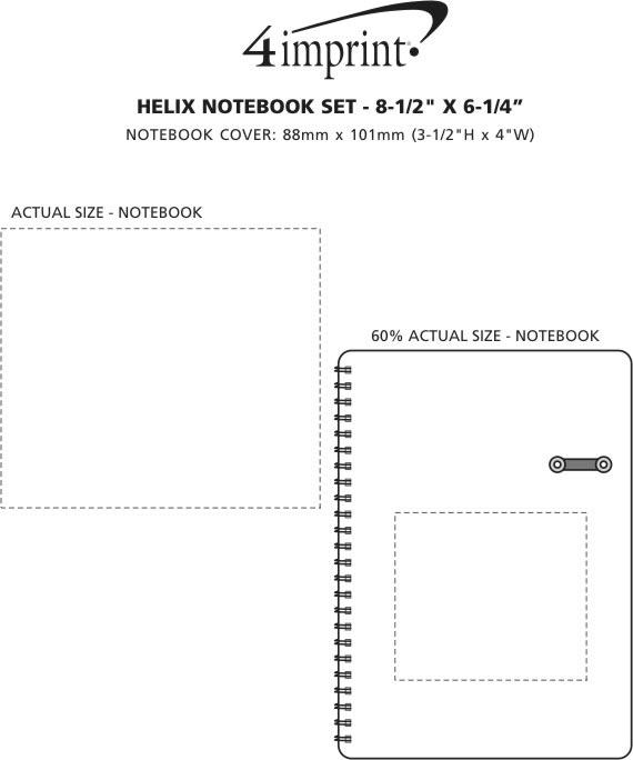 "Imprint Area of Helix Notebook Set - 8-1/2"" x 6-1/4"""