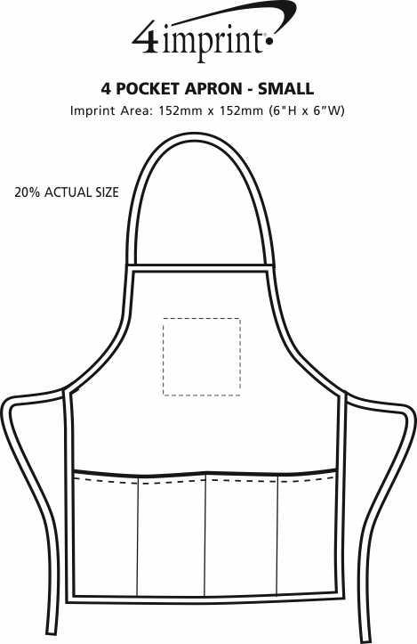 Imprint Area of 4 Pocket Apron - Small