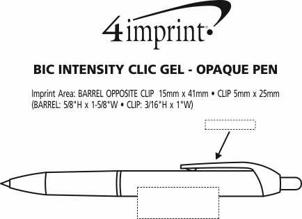 Imprint Area of Bic Intensity Clic Gel Rollerball - Opaque