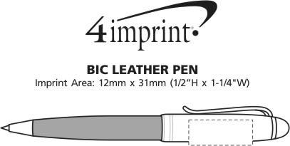 Imprint Area of Bic Leather Pen