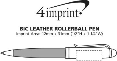 Imprint Area of Bic Leather Rollerball Pen