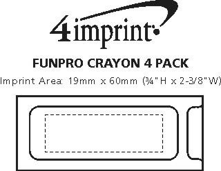 Imprint Area of Crayon 4-Pack