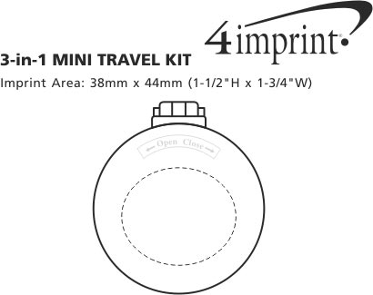 Imprint Area of 3-in-1 Mini Travel Kit