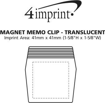 Imprint Area of Magnet Memo Clip - Translucent