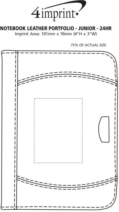 Imprint Area of Notebook Leather Portfolio - Junior - 24 hr