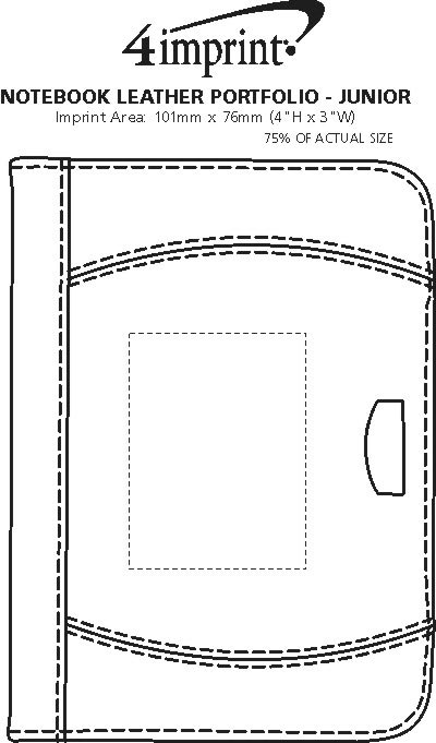 Imprint Area of Notebook Leather Portfolio - Junior