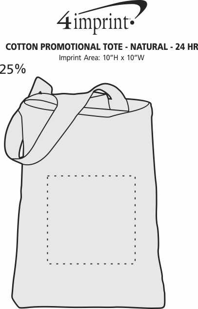 Imprint Area of Cotton Promotional Tote - Natural