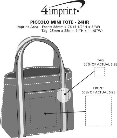 Imprint Area of Piccolo Mini Tote - 24 hr