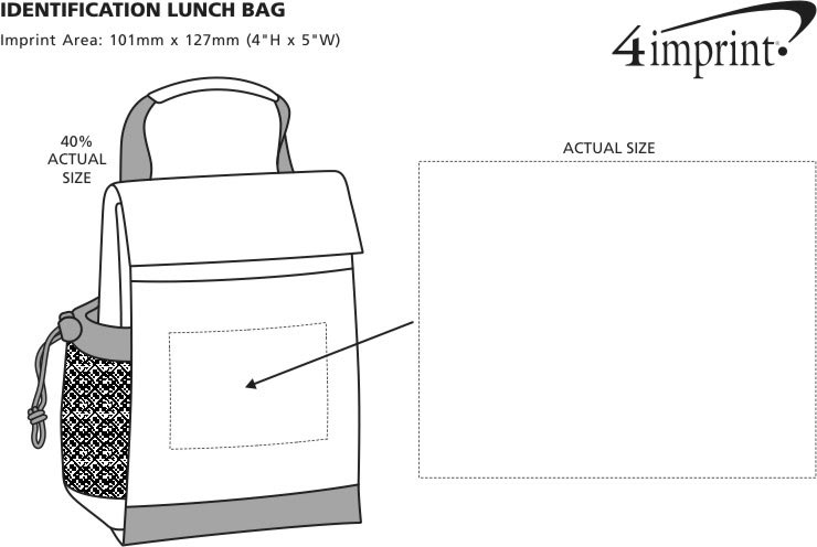 Imprint Area of Identification Lunch Bag