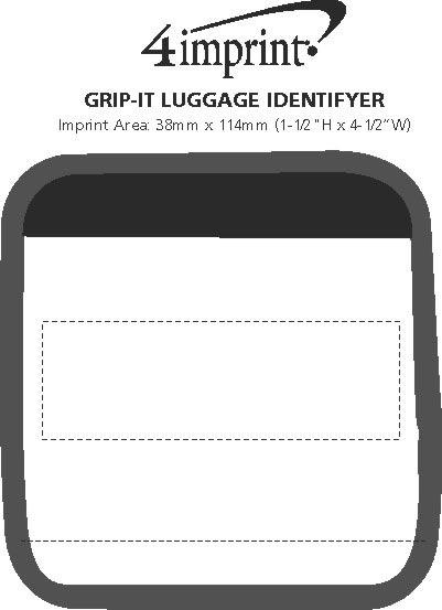 Imprint Area of Grip-it Luggage Identifier