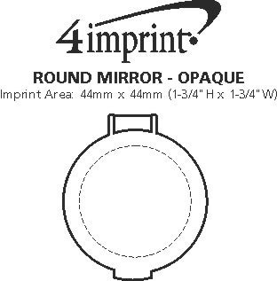 Imprint Area of Round Mirror - Opaque