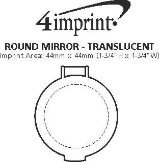 Imprint Area of Round Mirror - Translucent