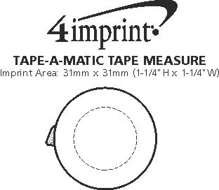 Imprint Area of Tape-A-Matic Tape Measure