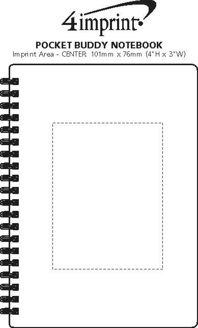 Imprint Area of Pocket Buddy Notebook