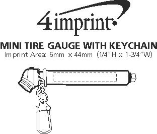 Imprint Area of Mini Tire Gauge with Keychain